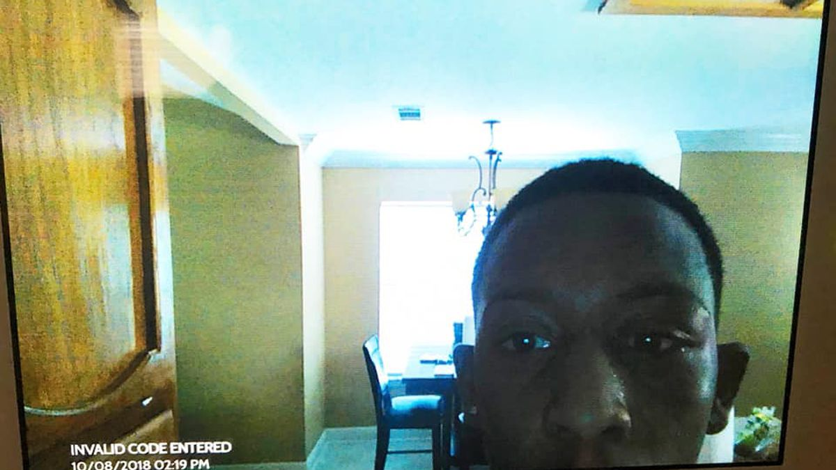 WANTED: Man breaks into home, accidentally takes selfie on security camera