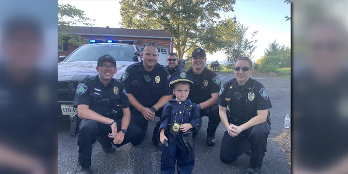 3-year-old boy gets birthday surprise from the Bedford Police Department