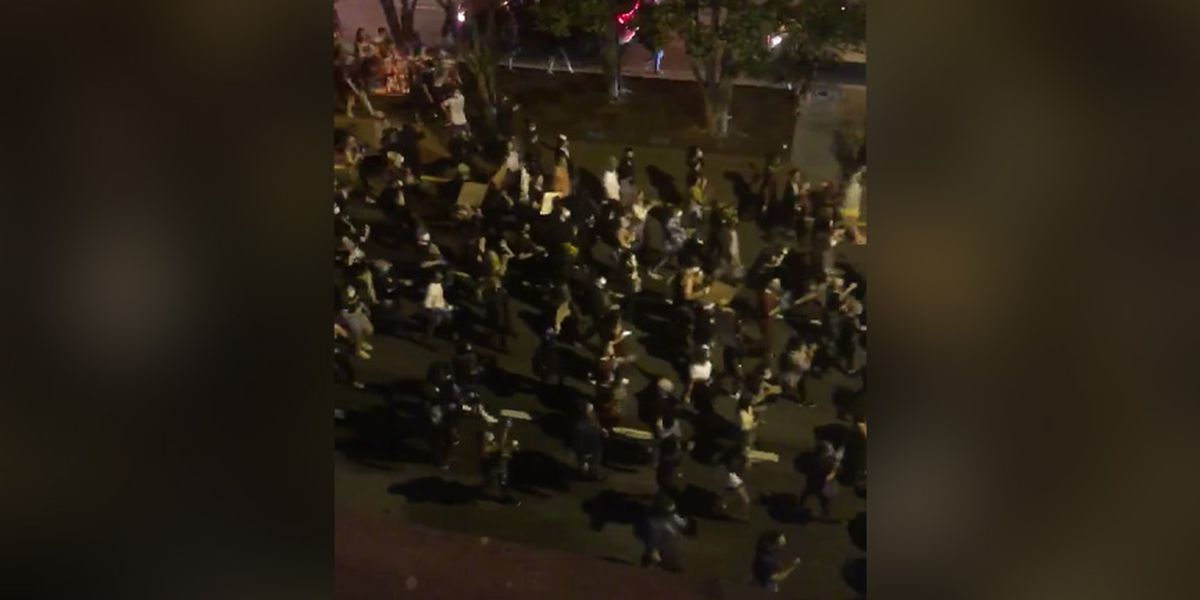 Protests over George Floyd's death turn violent in downtown Richmond
