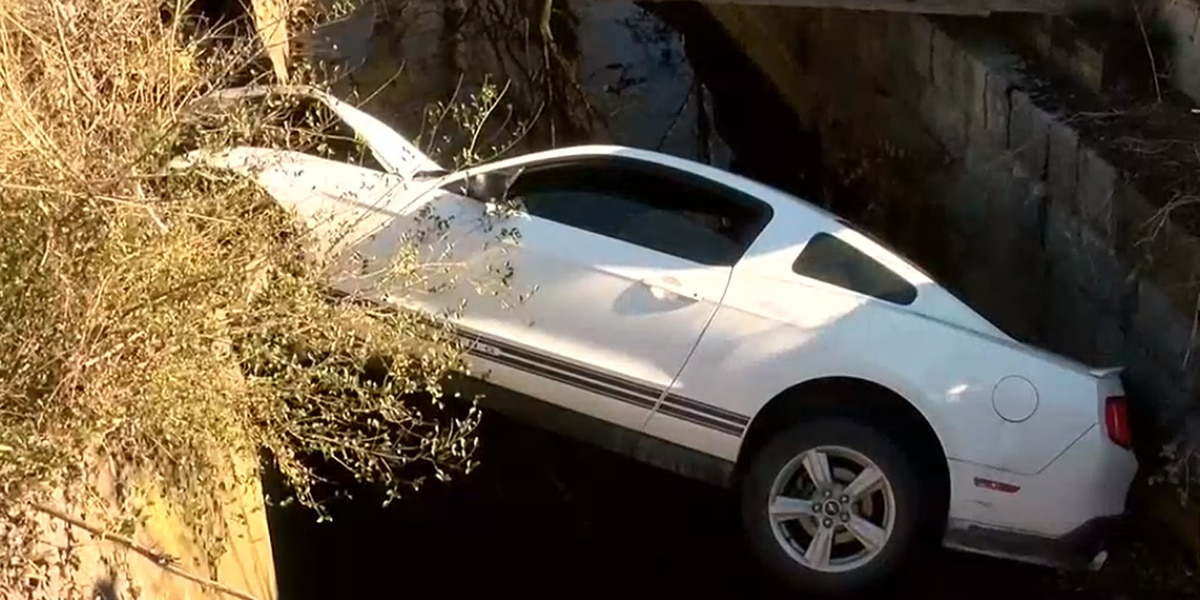 Wanted man taken into custody after crashing car into drainage ditch during police pursuit in Va.