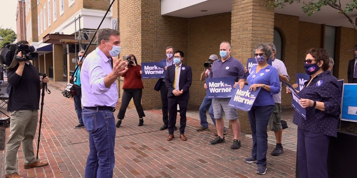 Sen. Mark Warner votes in Alexandria as Virginia opens early voting