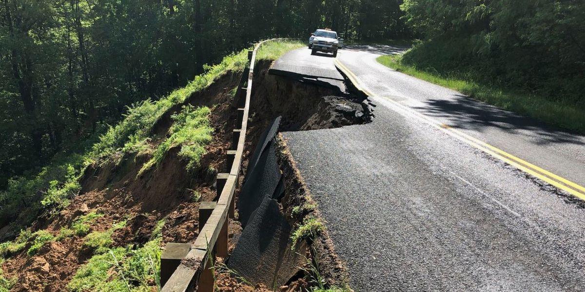 Heavy rains create hazards along Blue Ridge Parkway