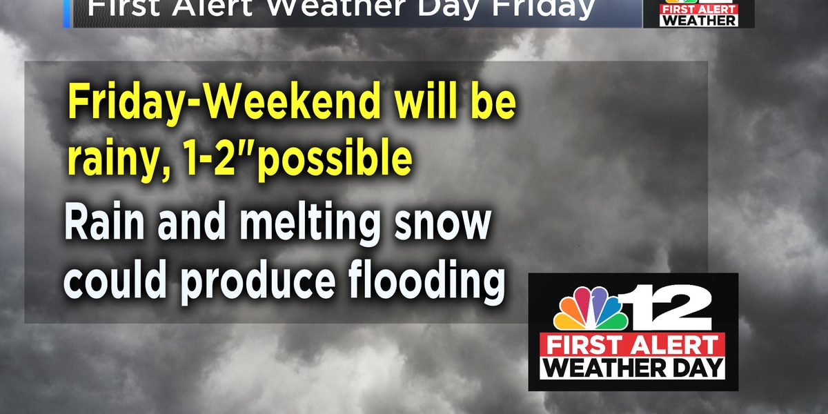 First Alert Weather Day: Heavy rain likely Friday into the weekend