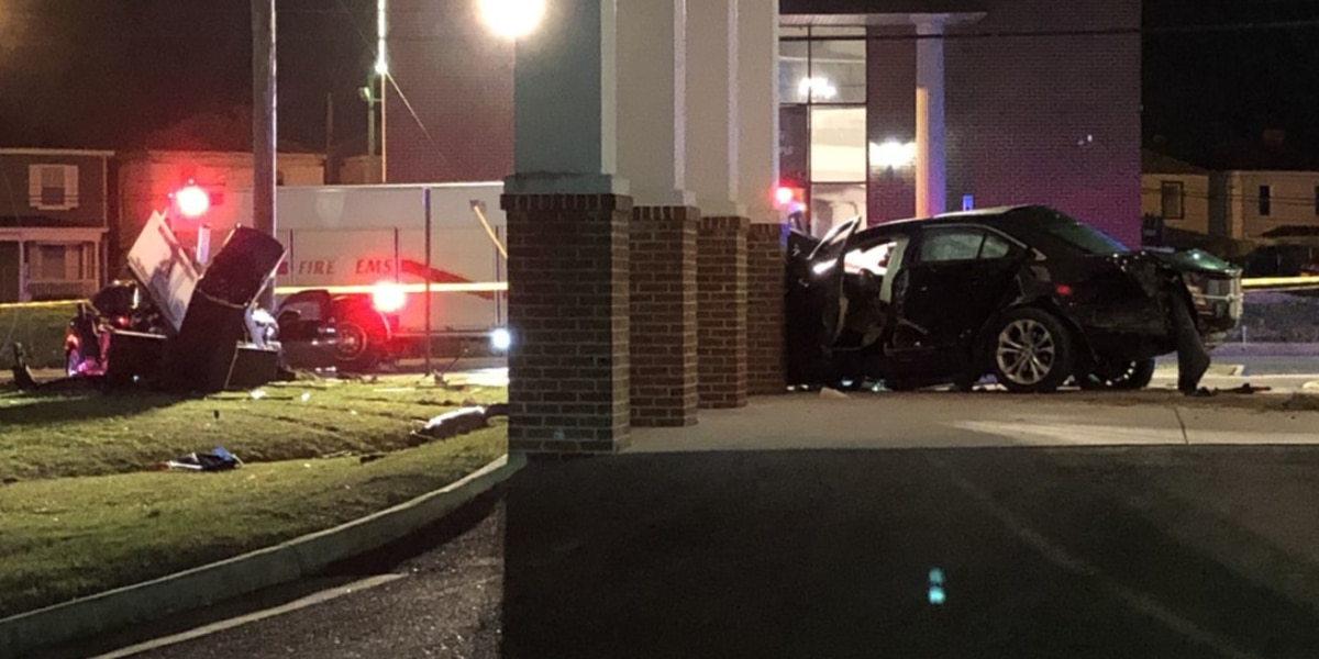 Police chase ends in crash outside of Petersburg church