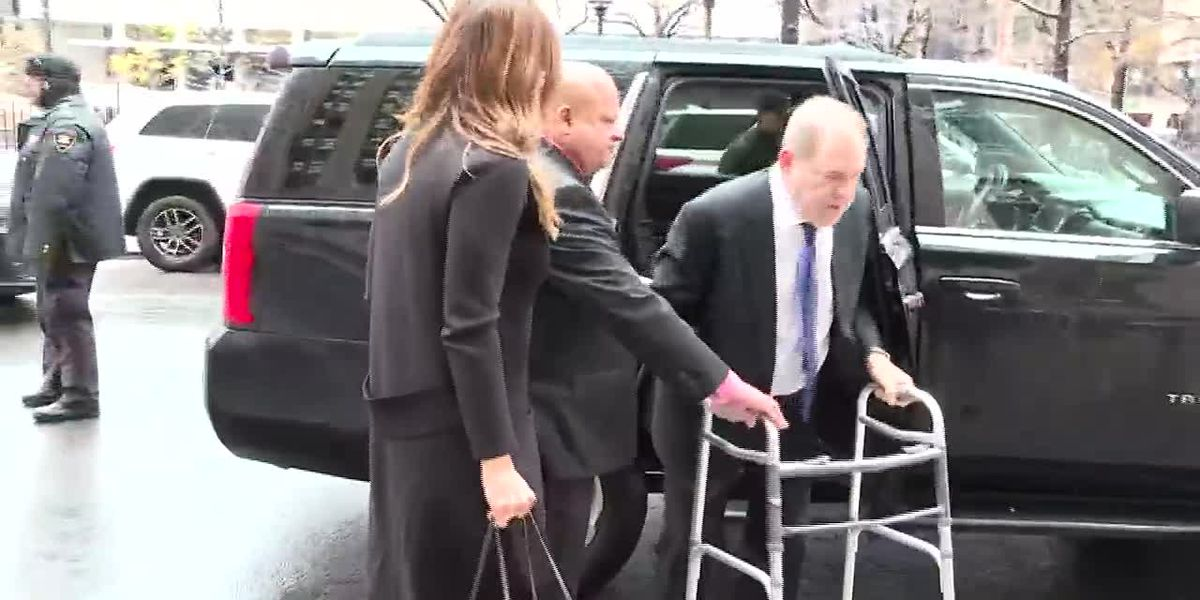 Harvey Weinstein arrives in court
