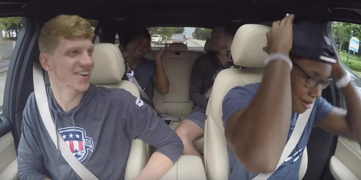 RVA's Townley Haas, U.S. Olympic Swim team take part in carpool karaoke