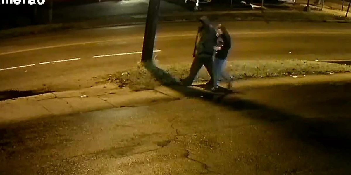 RAW: Video shows man walking with woman whose body was found hours later
