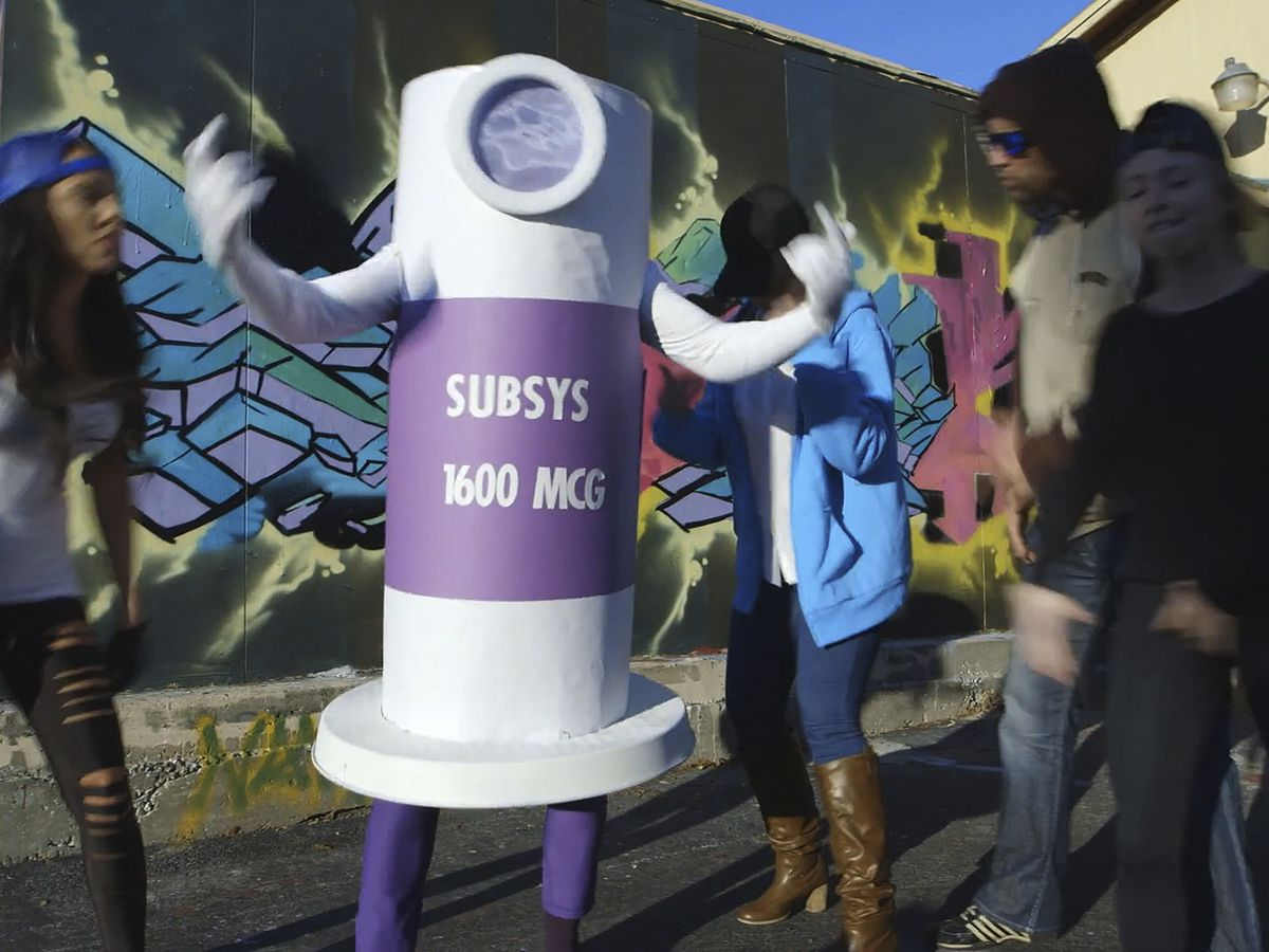 Drug company exec wore fentanyl spray costume in rap video to motivate opioid sales team