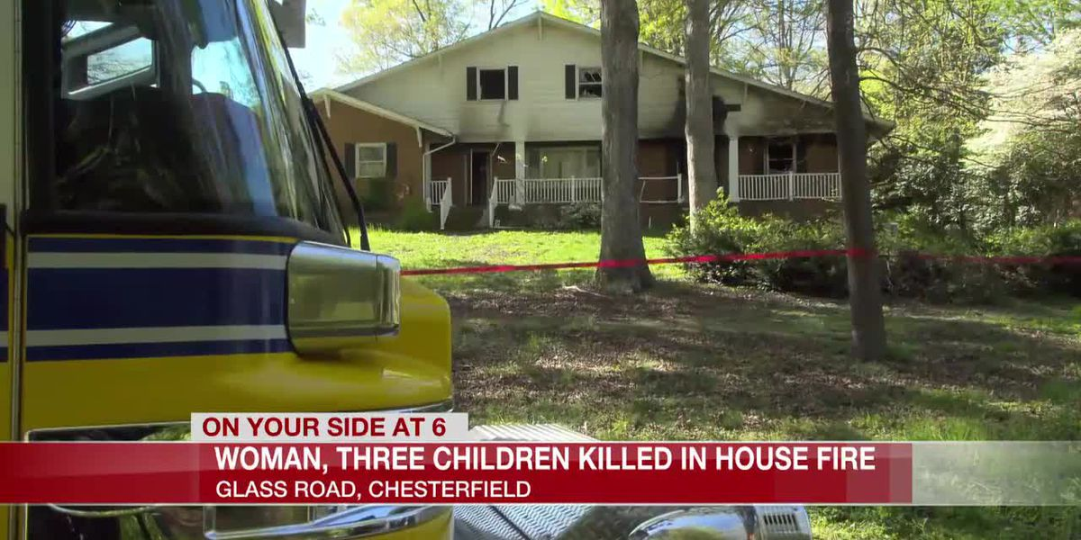 3 children, 1 woman dead in overnight Chesterfield house fire