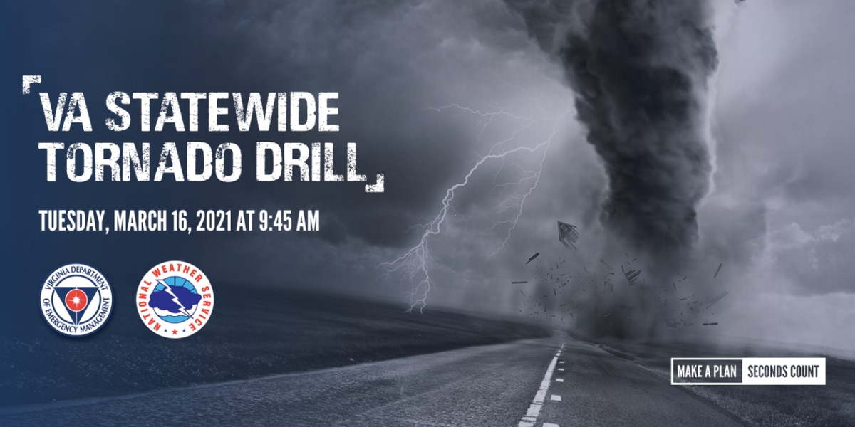 Virginia to hold statewide tornado drill on March 16