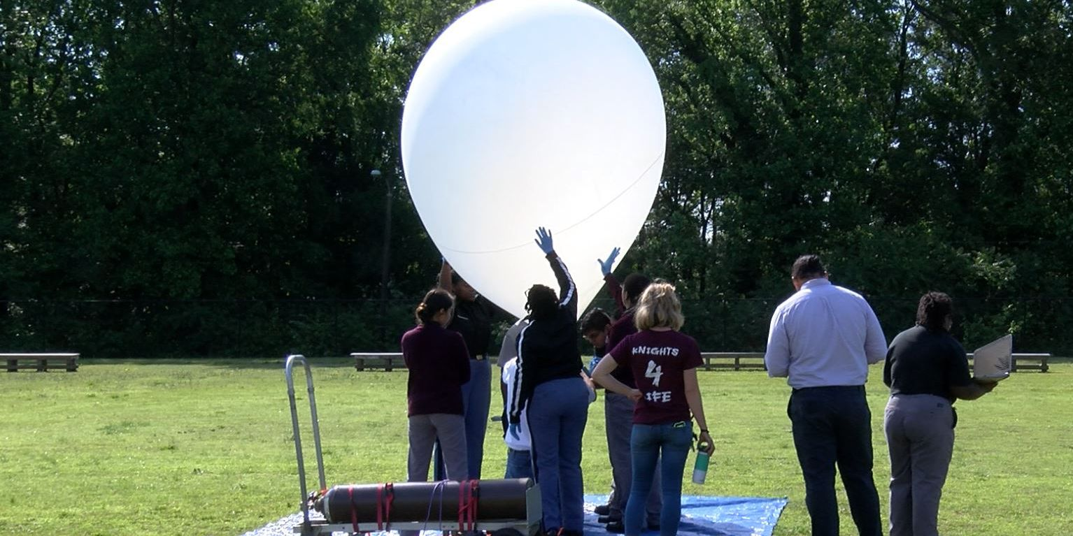 Franklin Military Academy sends balloon nearly into space