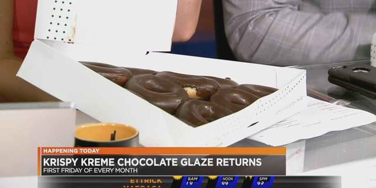 Glazed chocolate doughnuts?!? Yes, please
