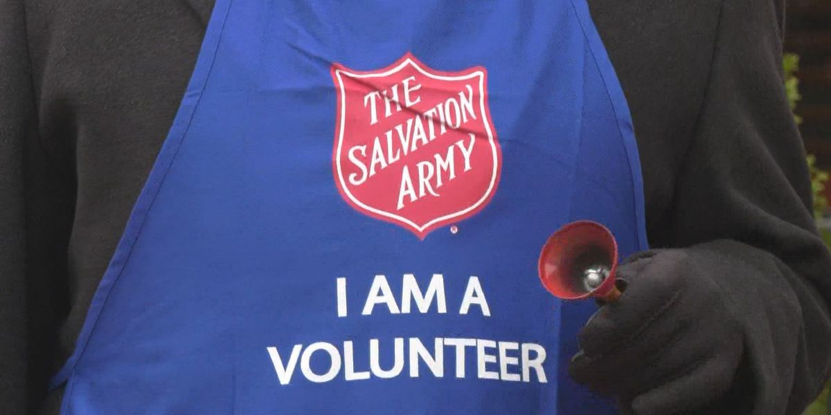 Salvation Army bell ringers out early this year due to much-needed donations