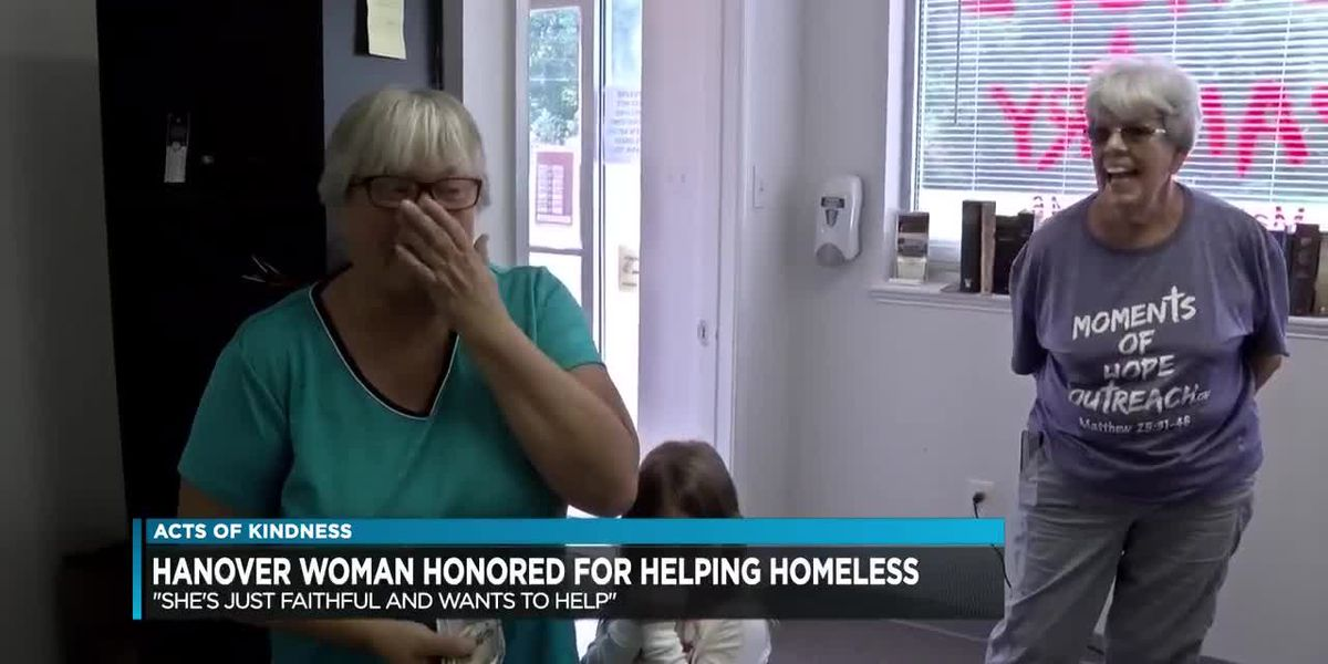 Hanover woman honored for helping the homeless