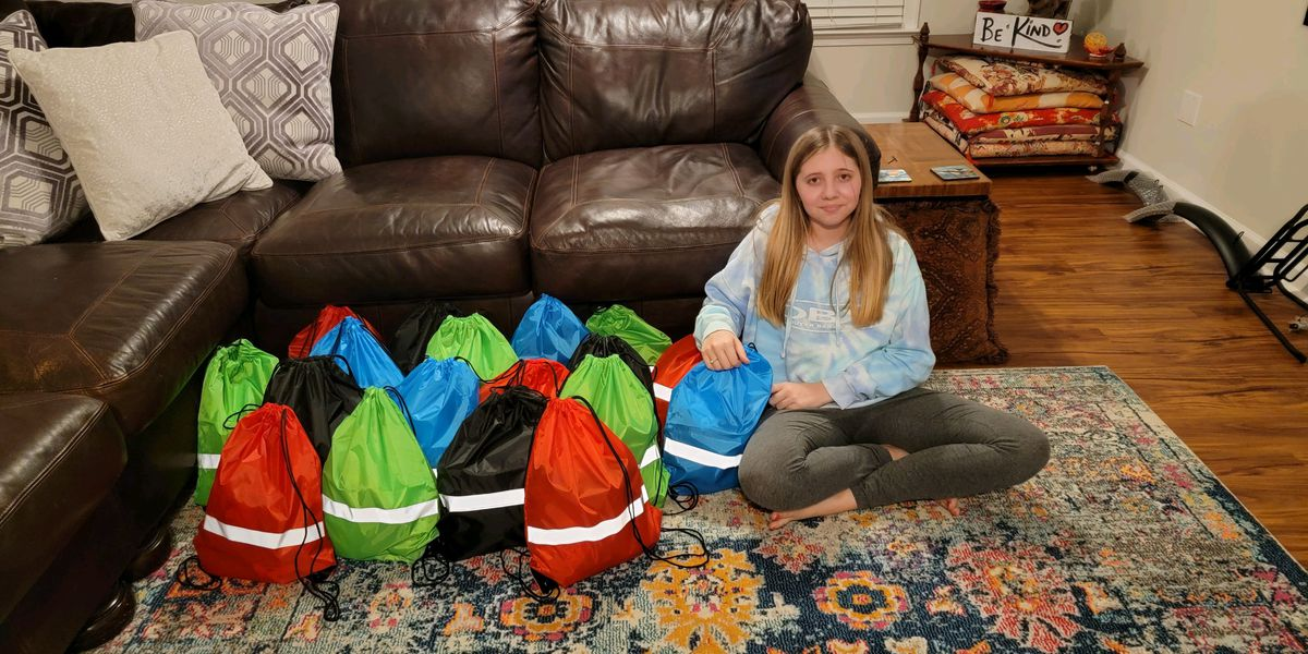 13-year-old Mechanicsville girl makes it her mission to deliver 365 days of gifts to the homeless