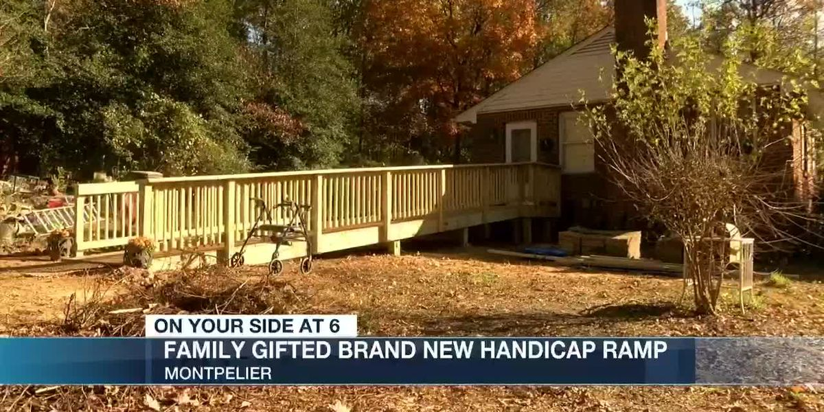 Family gifted brand new handicap ramp