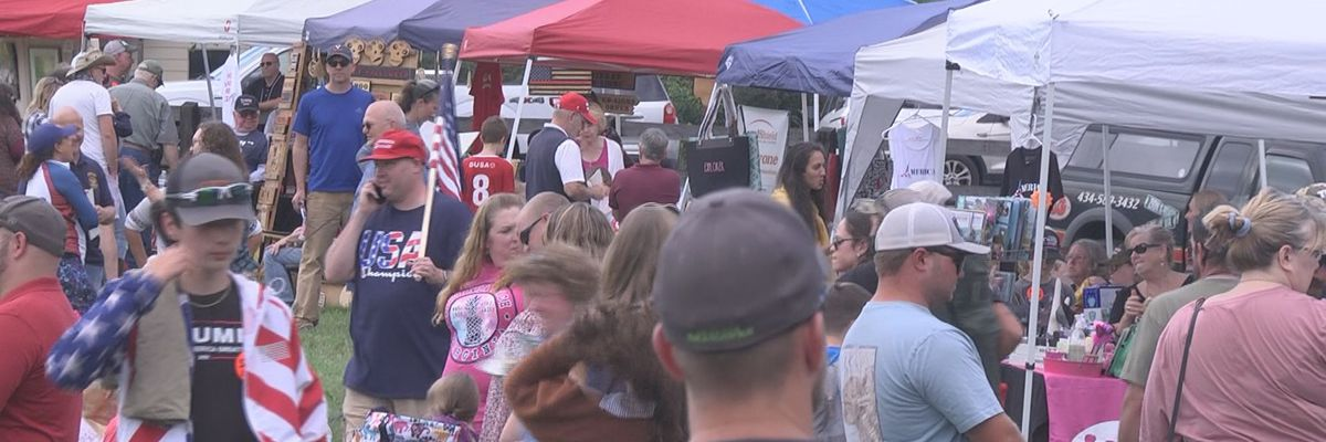 """Hundreds turn out for """"God, Guns and a Good Time"""" rally in Fluvanna Co."""