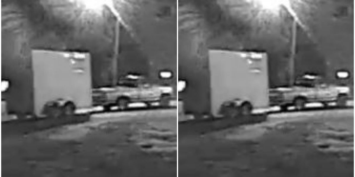 Police search for information after trailer stolen with bathroom, vanity supplies in it