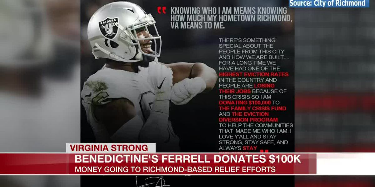 Raider donates $100K to Richmond coronavirus relief