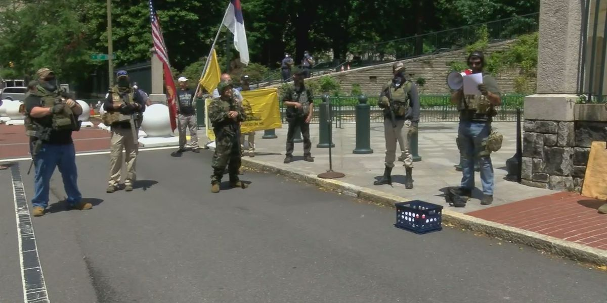 Armed protesters gather near Capitol urging Northam to open economy