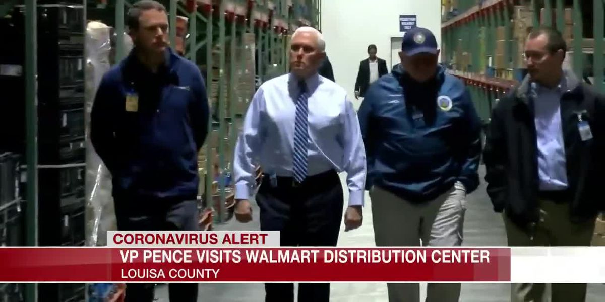 VP Pence visits Walmart distribution center