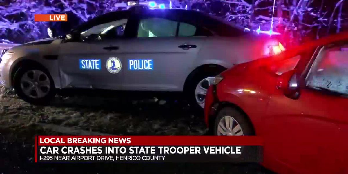 VSP trooper injured in crash on I-295 in Henrico