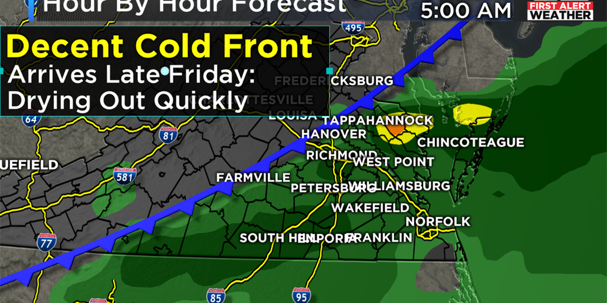 When will the hot/humid pattern take a break in Richmond?