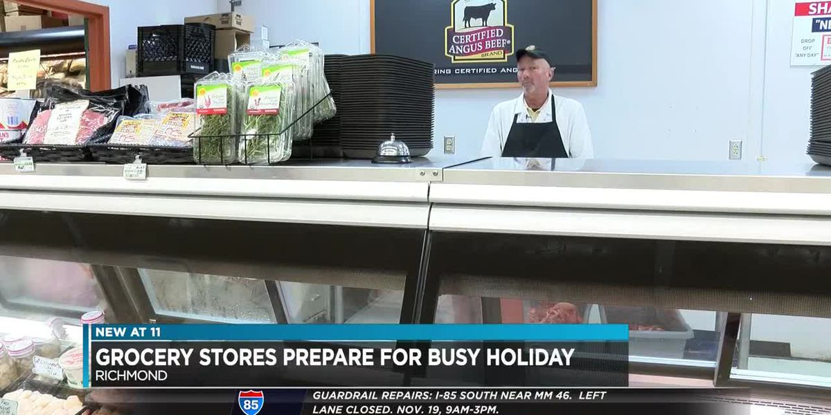 Grocery stores prepare for busy holiday