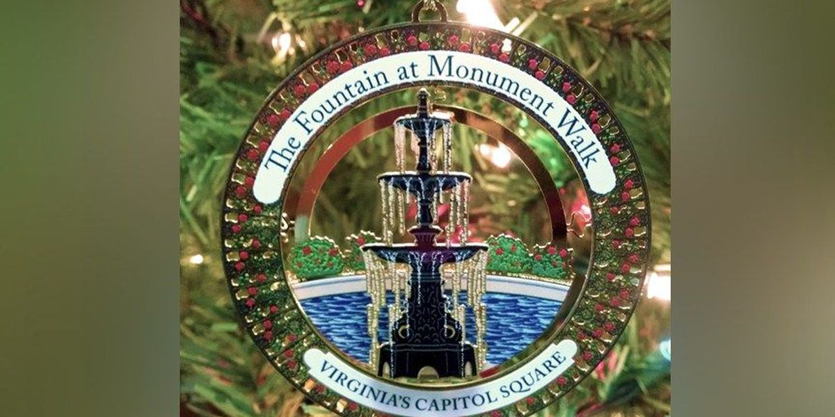 Capitol Square ornament features replica of fountain