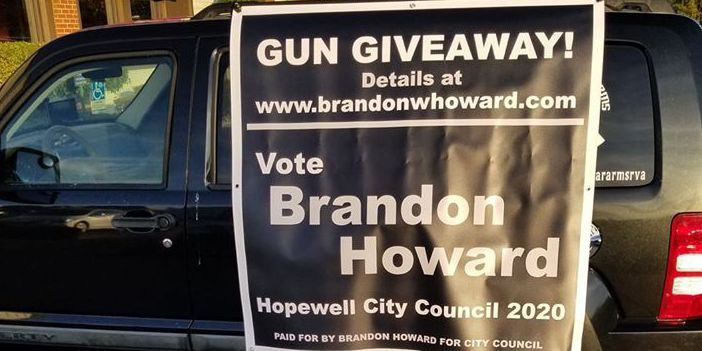 Hopewell man giving away guns in campaign for council seat