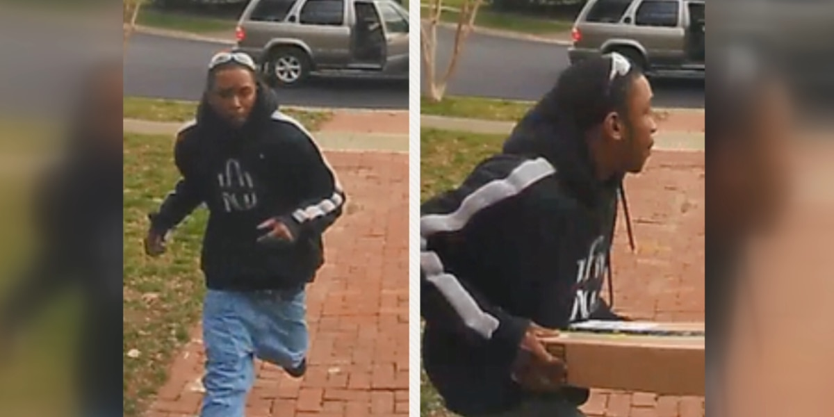Richmond Police searching for man stealing packages