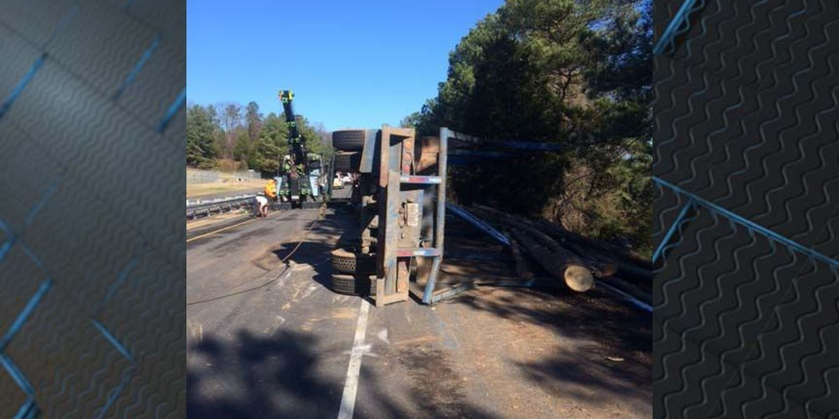 Update: Ramp from I-95N to Route 10 reopens after log truck crash