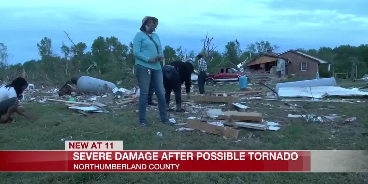 Likely tornado causes damage in Northumberland County