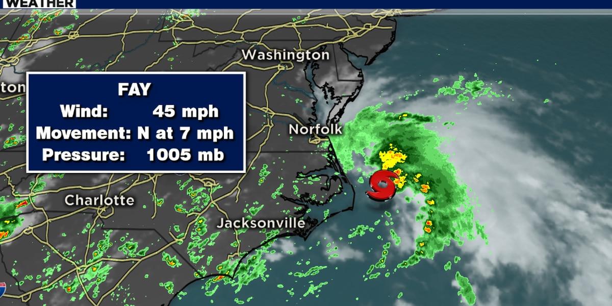 Tropical Storm Fay weakens as it makes it northward trek