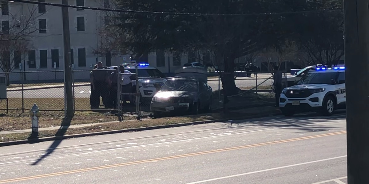 Police vehicle involved in pursuit in Henrico