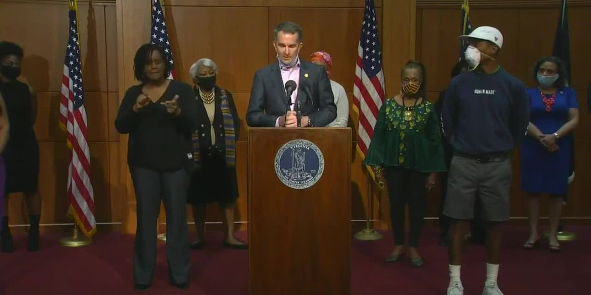 Pharrell Williams joins Gov. Northam at press conference for special announcement - VOD - clipped version