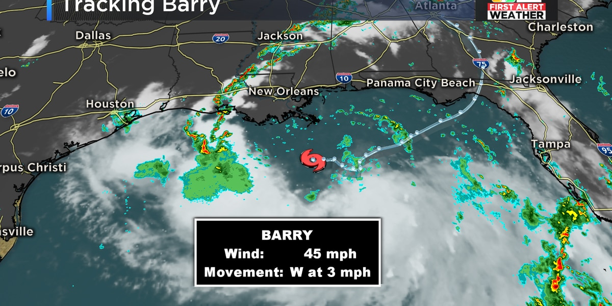 Barry makes landfall as a hurricane, weakens back to tropical storm