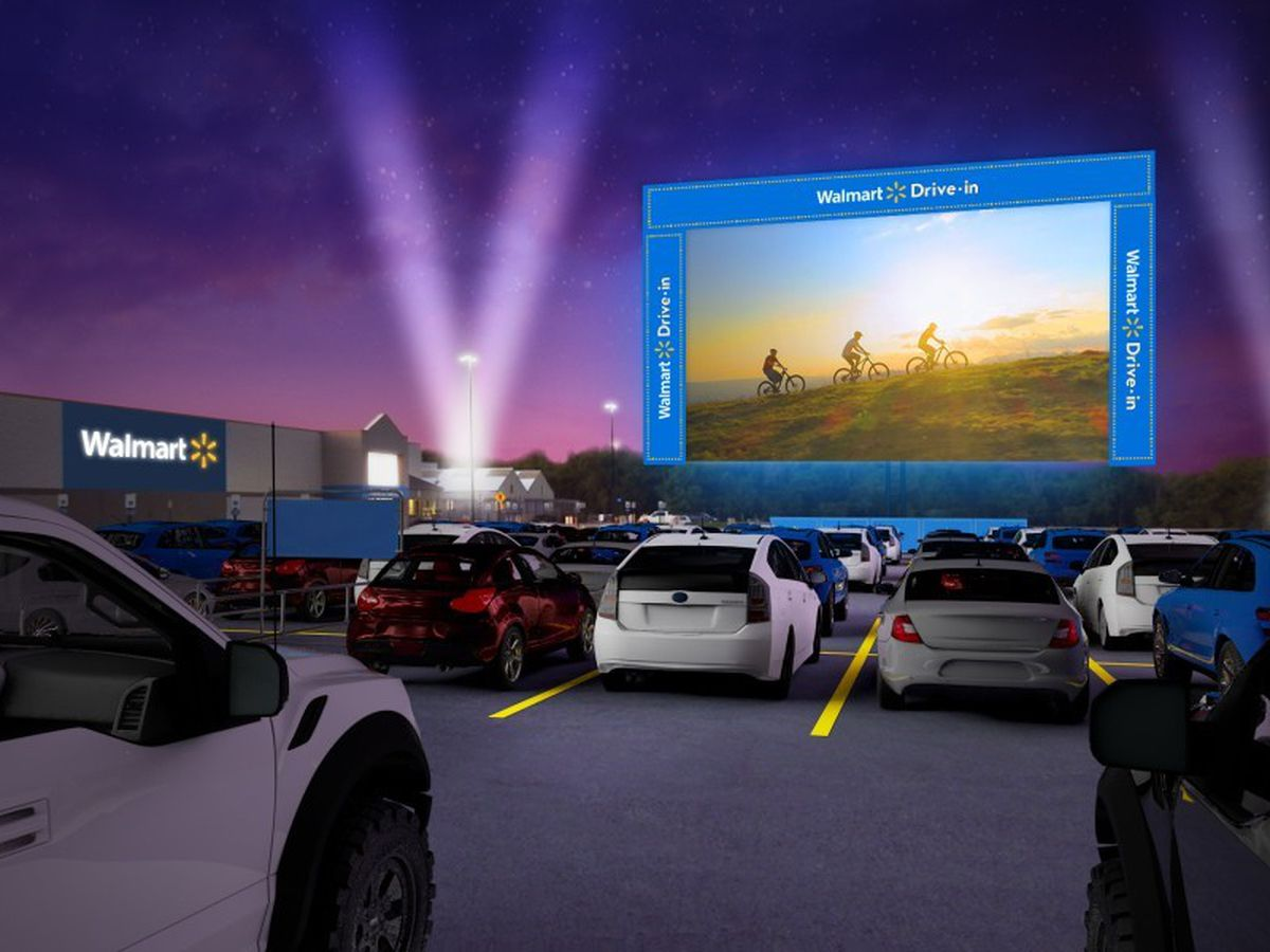 Walmart releases schedule for its parking lot drive-in theaters