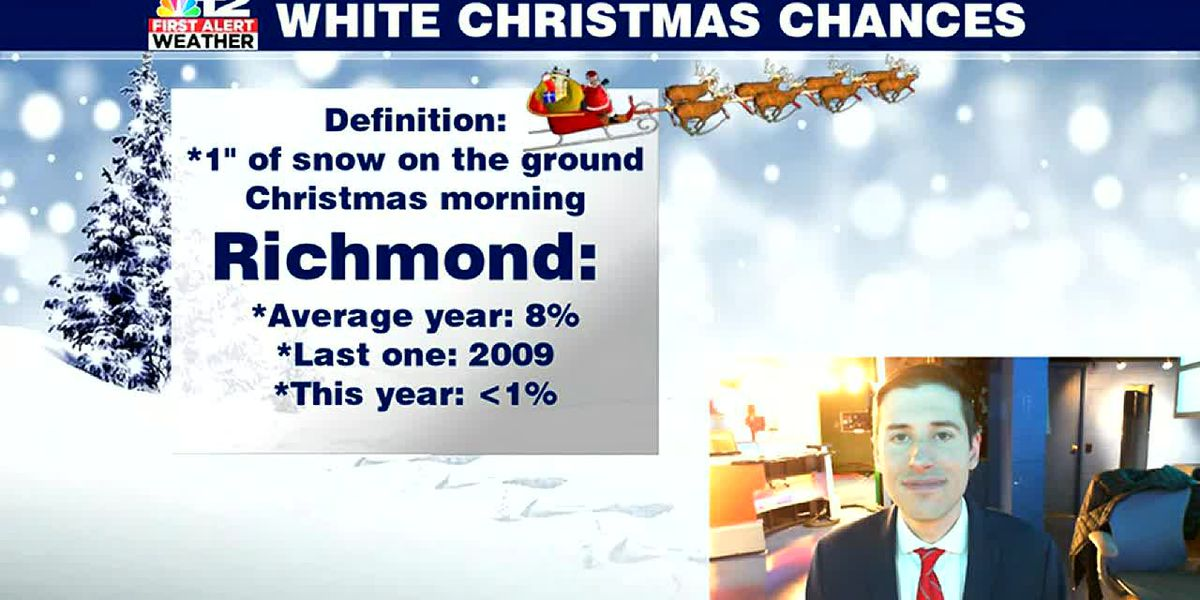 No white Christmas in Virginia this year