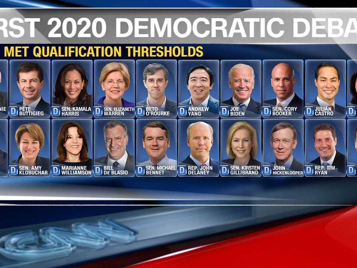 Lineups announced for first Democratic debates