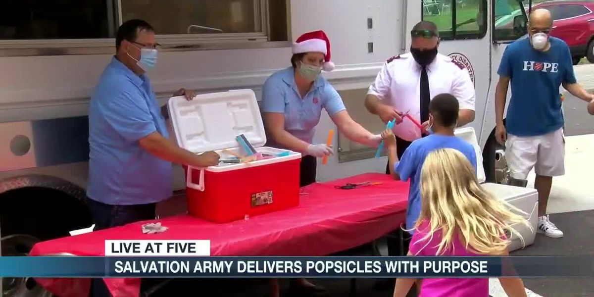 Salvation Army hands out Popsicles