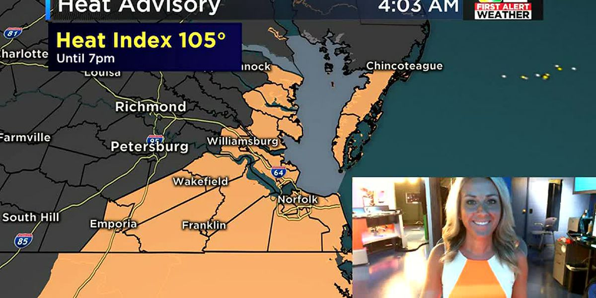 Heat Index expected to reach 105°
