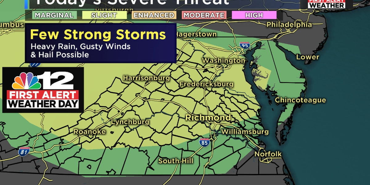 First Alert Weather Day: Few strong storms possible Friday