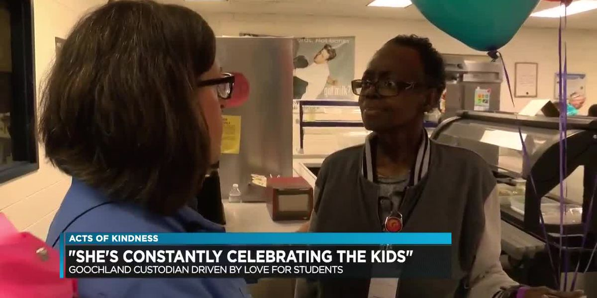 School custodian goes above and beyond to spark positive attitudes