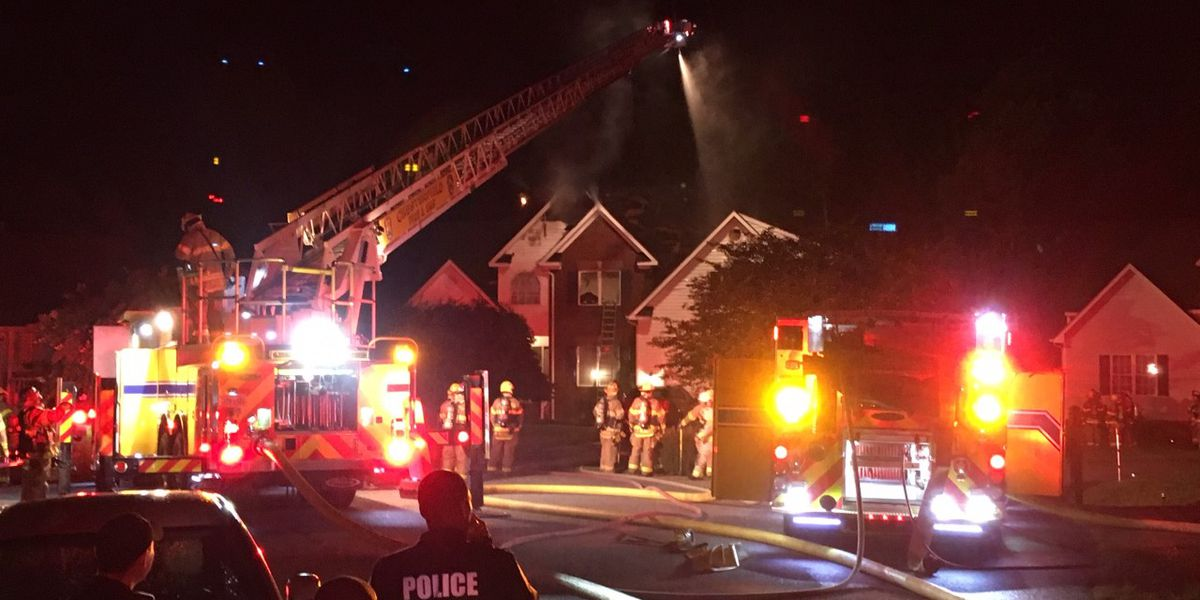 Family safe after house fire in Chesterfield