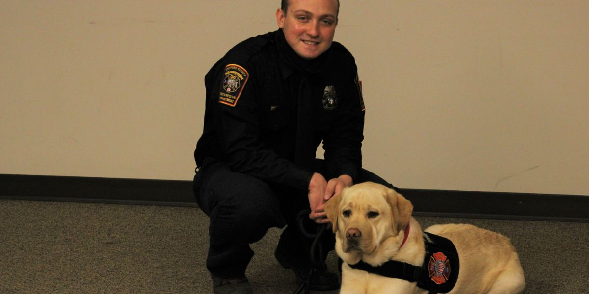 Stafford County Fire and Rescue get peer support canine