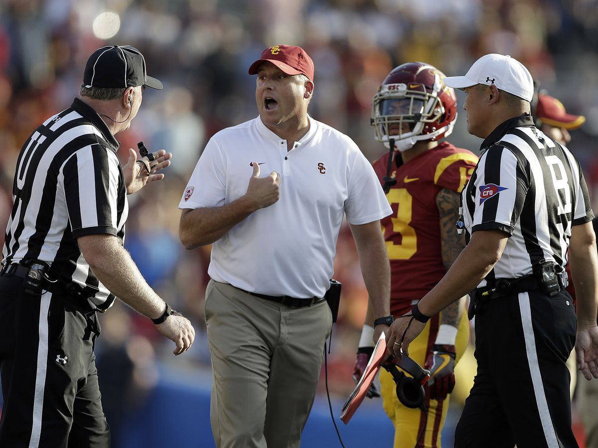 USC's Clay Helton doesn't expect to lose job after UCLA loss