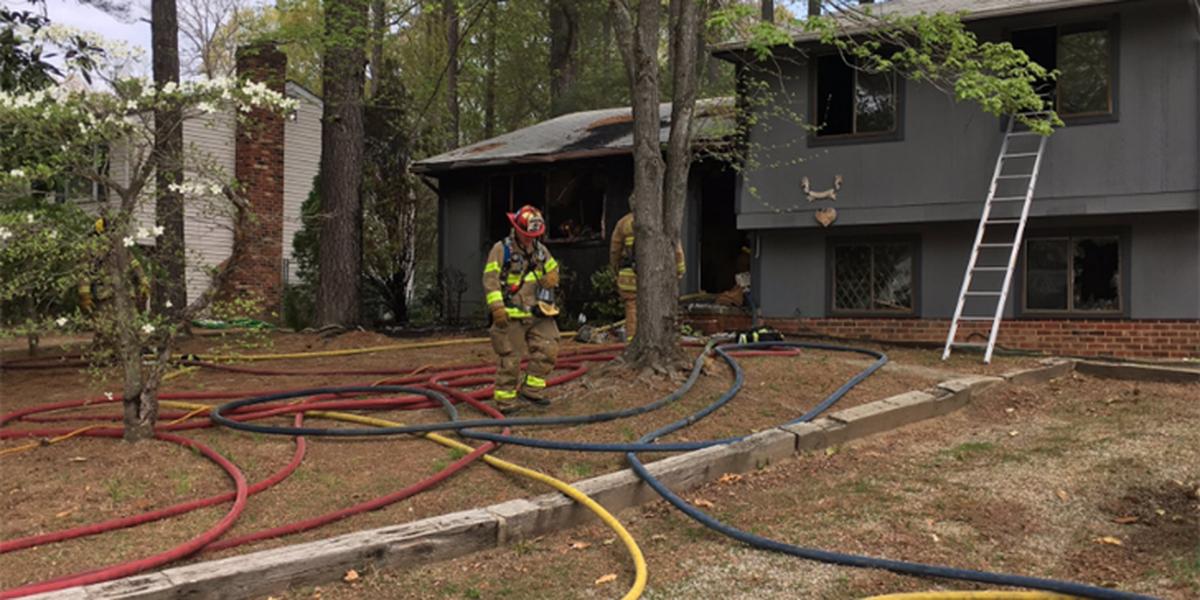 Juvenile charged with arson after Chesterfield house fire
