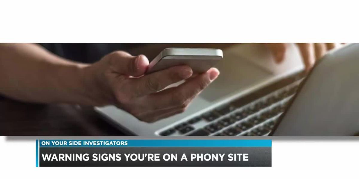 Warning signs you're on a phony website