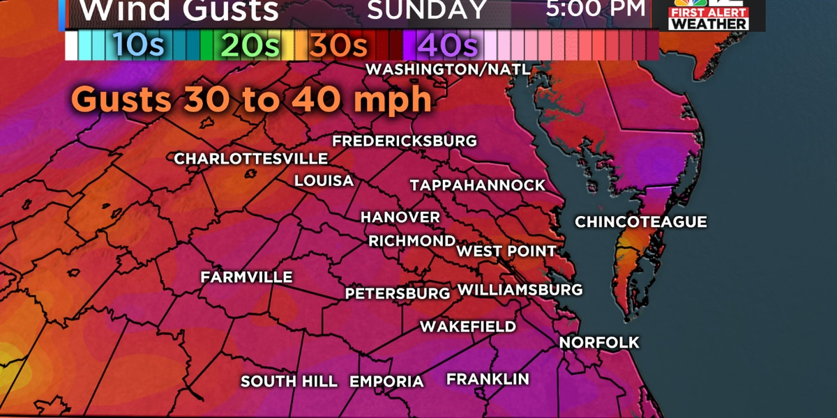 First Alert: Rain, gusty winds, and a warm-up expected for Sunday